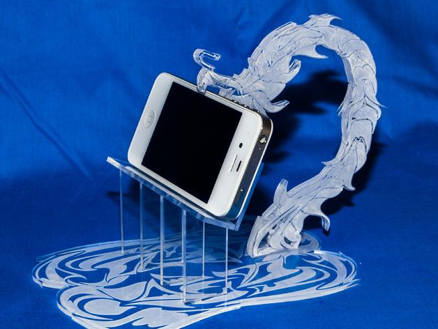 龙行iPhone手机架 3D打印模型渲染图