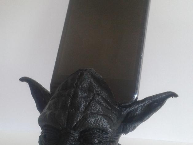 尤达大师iPhone手机架 3D打印模型渲染图