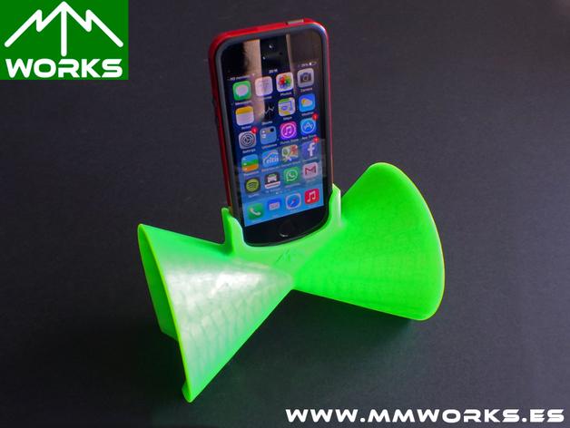 IPhone 4/4s & 5/5s苹果手机扩音器 3D打印模型渲染图