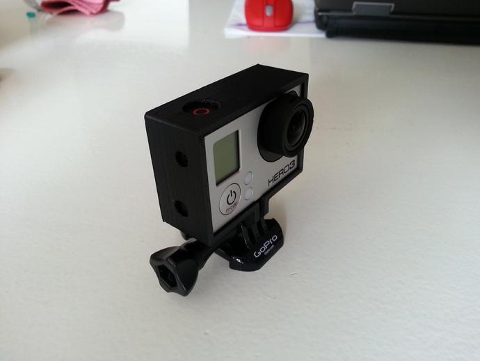 GoPro Hero 3 相机保护框 3D打印模型渲染图
