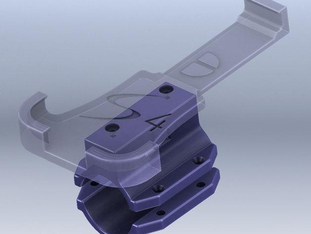 三星S4手机自行车载手机架 3D打印模型渲染图