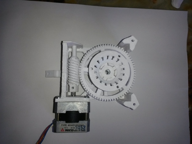 Star tracker步进电机蜗杆 3D打印模型渲染图