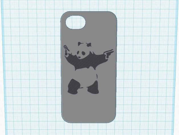 功夫熊猫iPhone5手机壳 3D打印模型渲染图