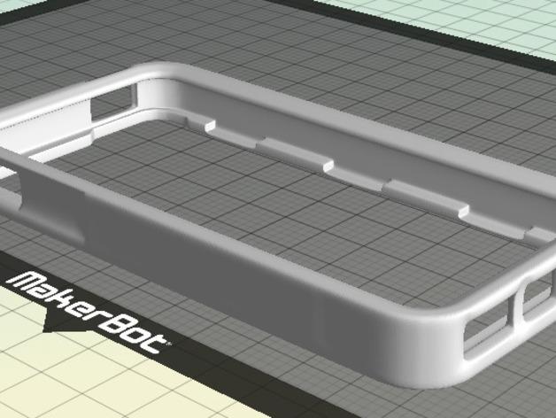 iPhone 5手机边框保护壳 3D打印模型渲染图