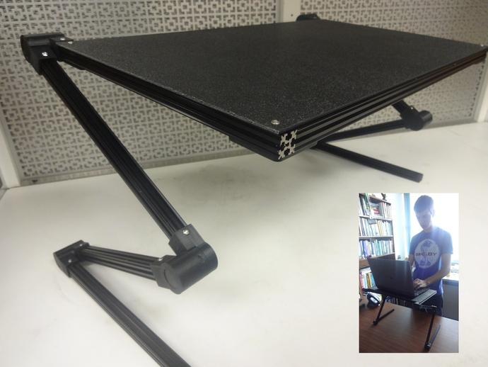 可调整平板电脑支撑架 3D打印模型渲染图