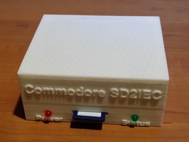 Commodore 64 & 128外盒 保护壳 3D打印模型渲染图