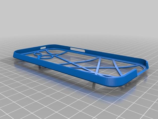 HTC One手机保护壳 3D打印模型渲染图