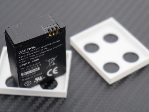 GoPro Hero 3相机电池盖 3D打印模型渲染图