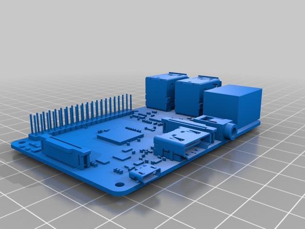 树莓派电路板模型