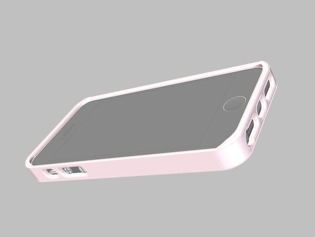 iPhone手机外壳 3D打印模型渲染图