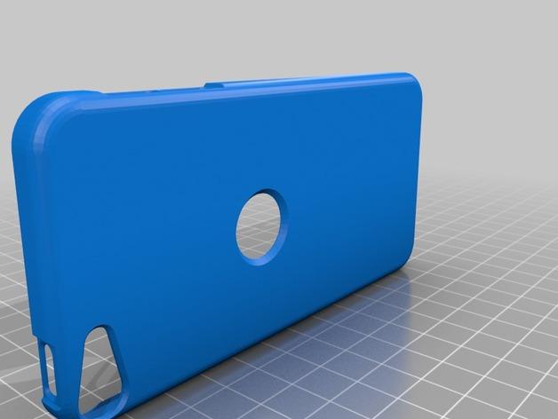 iPod touch 5苹果小平板保护外壳 3D打印模型渲染图