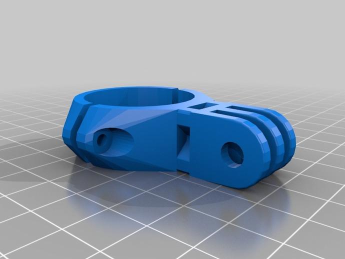 gopro 相机支撑座夹环 3D打印模型渲染图