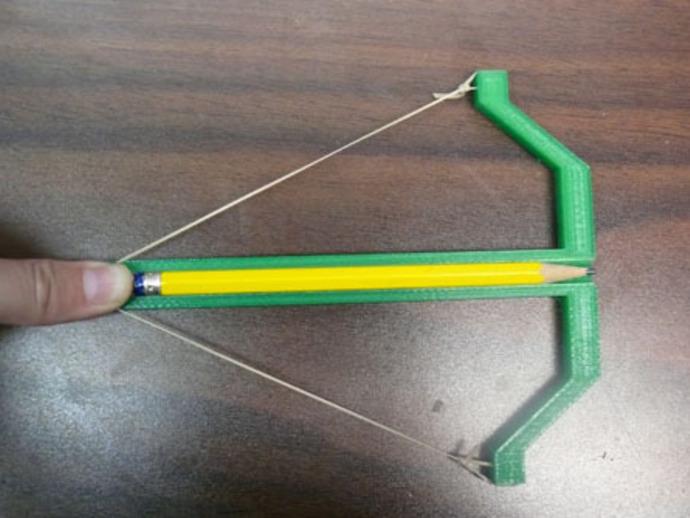铅笔弓 玩具弓箭 3D打印模型渲染图