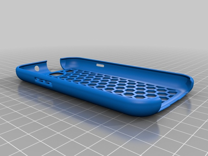 蜂巢式三星Galaxy S3 手机壳 3D打印模型渲染图