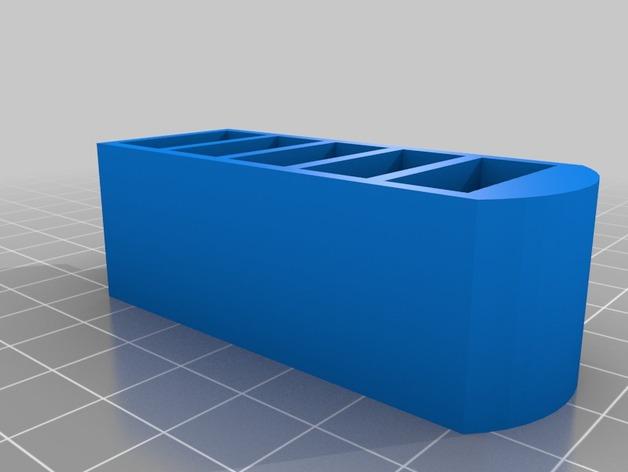 USB收纳盒 3D打印模型渲染图