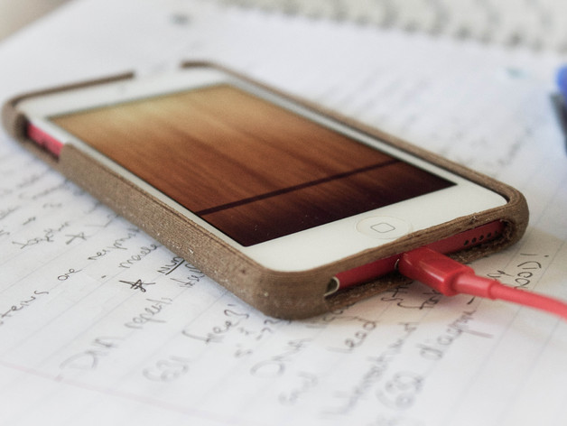 木质 iPod Touch保护壳 3D打印模型渲染图