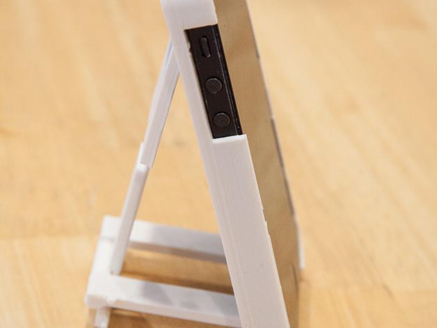 懒人必备带支撑座的iPhone 5手机套 3D打印模型渲染图