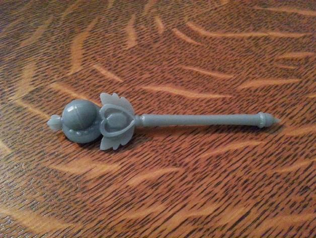 美少女战士的手杖 3D打印模型渲染图