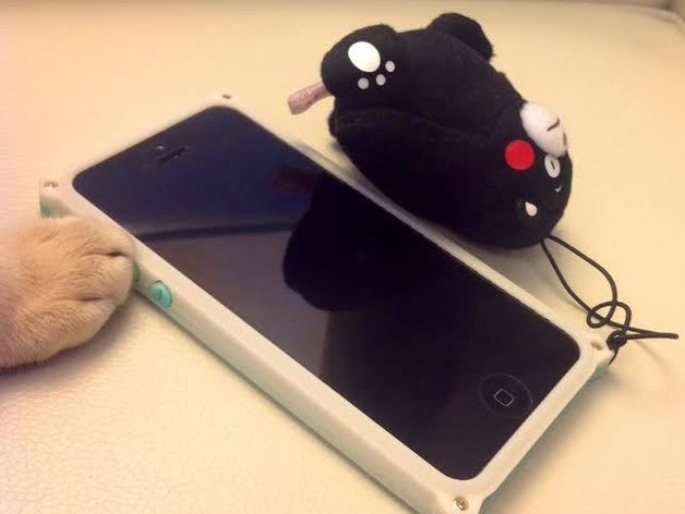 iPhone 5/ 5s手机外壳 保护框 3D打印模型渲染图