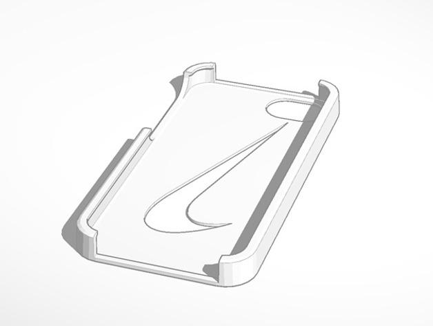 耐克标志iPhone5手机保护壳 3D打印模型渲染图