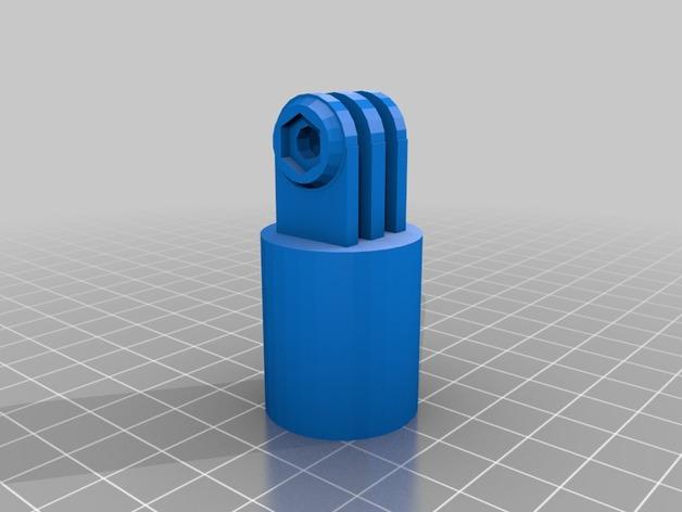 GoPro相机支撑架连接部件 3D打印模型渲染图