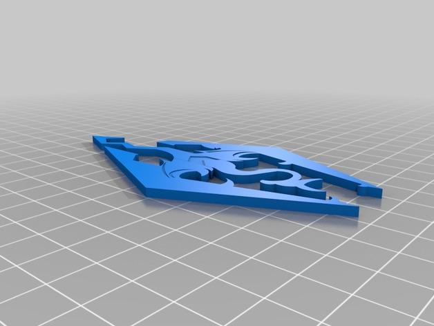 天际上古卷轴 标志 3D打印模型渲染图