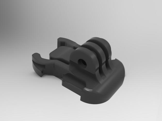 GoPro相机固定器 底座  3D打印模型渲染图