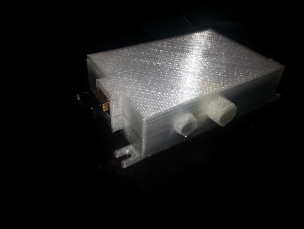 树莓派外盒 3D打印模型渲染图
