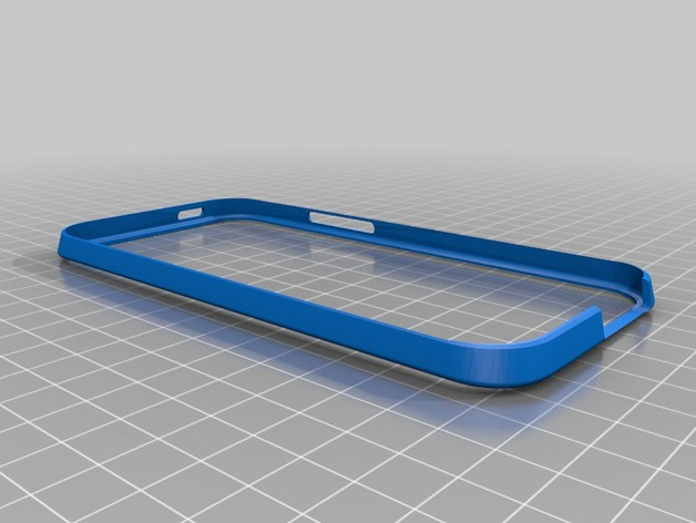 HTC One手机外框保护壳 3D打印模型渲染图