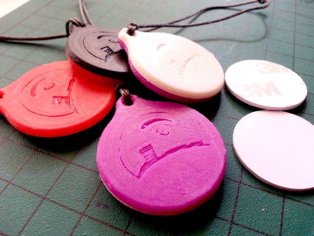NFC徽章钥匙扣 3D打印模型渲染图