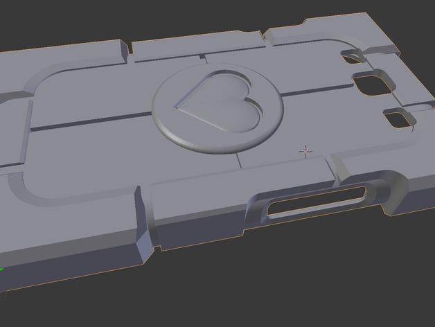 传送门三星Galaxy S3手机套 3D打印模型渲染图