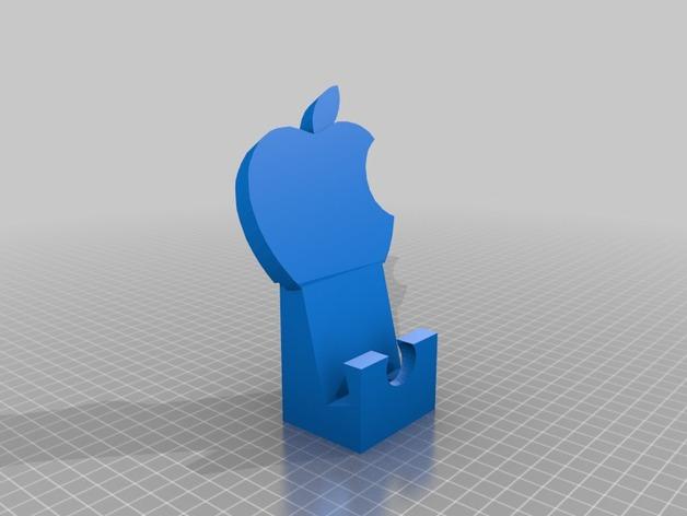 苹果设备站架 3D打印模型渲染图