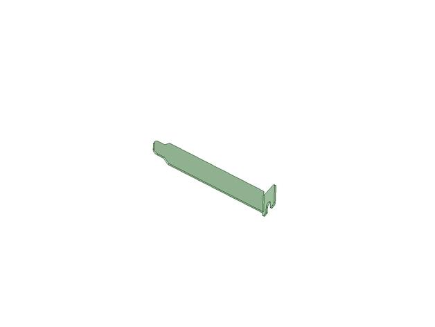 PCI 插槽盖 3D打印模型渲染图