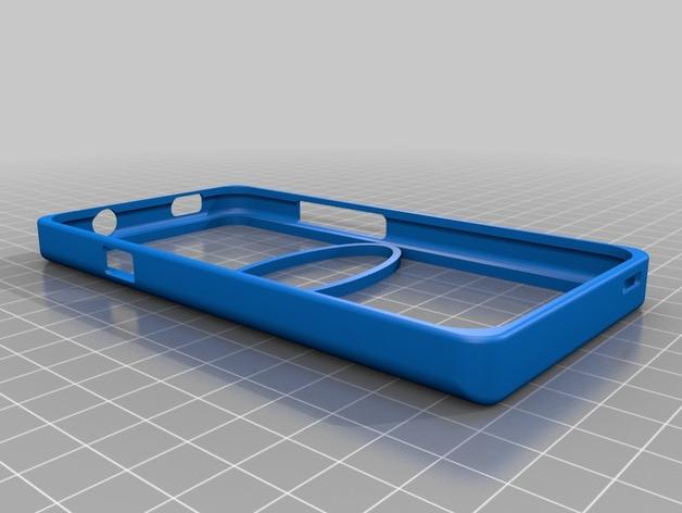 HTC One-X手机保护外壳 3D打印模型渲染图