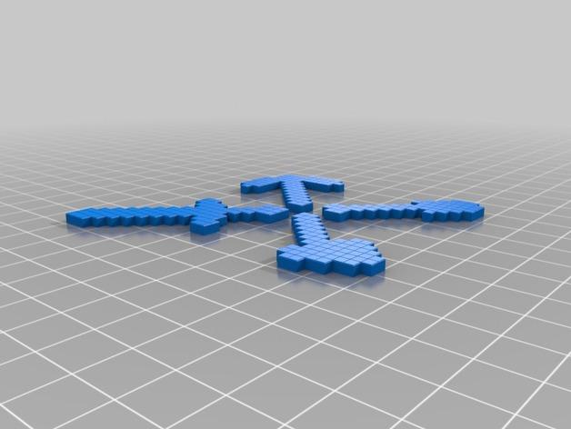 我的世界游戏道具 3D打印模型渲染图