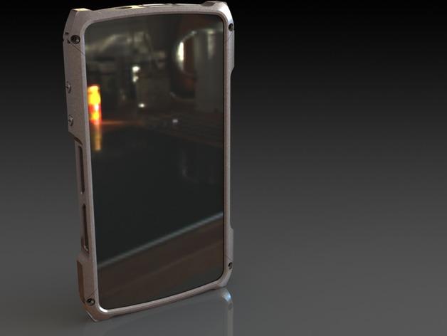 nexus 5手机边框保护壳 3D打印模型渲染图