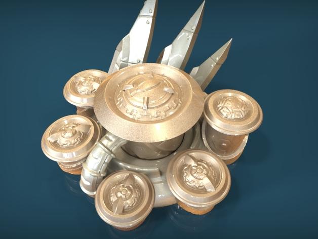 星际争霸神族控制器模型 3D打印模型渲染图