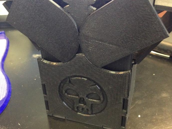铰接板盒子 3D打印模型渲染图