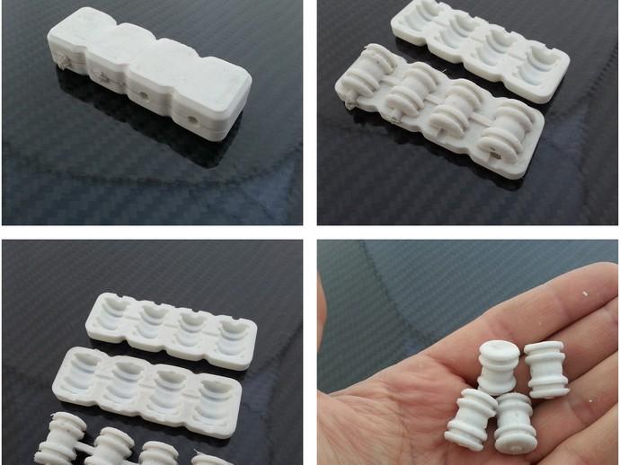 阻尼式万向节模具 3D打印模型渲染图