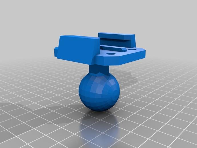 GoPro相机球形底座 3D打印模型渲染图