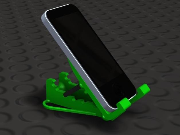可调角度的iPhone手机架 3D打印模型渲染图