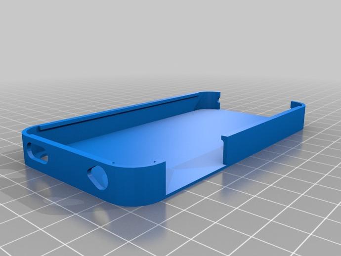 iPhone 4s 手机外壳 3D打印模型渲染图