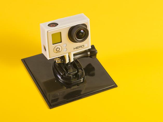 GoPro Hero3相机外框保护壳 3D打印模型渲染图
