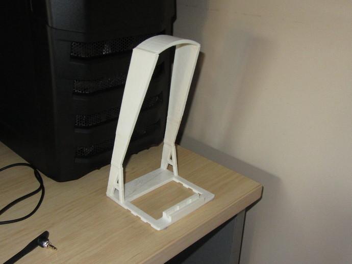 头戴式耳机展示架 3D打印模型渲染图