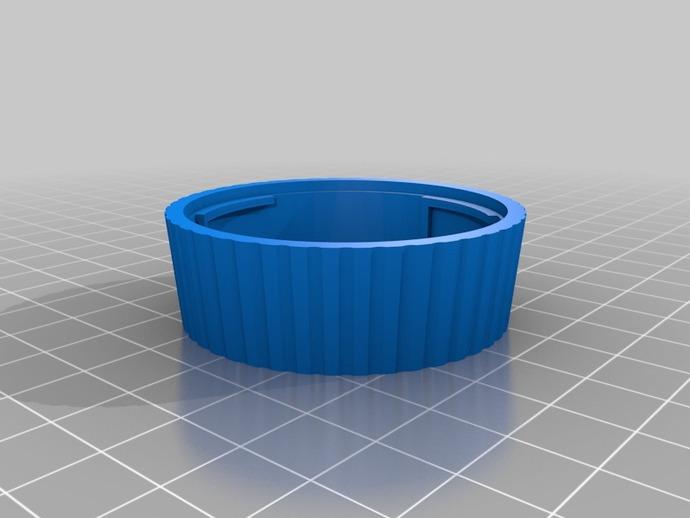 尼康相机镜头盖 3D打印模型渲染图