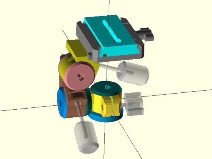 三脚架连接头 3D打印模型渲染图