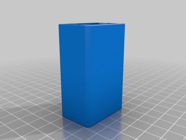 辐射 电池盒 3D打印模型渲染图