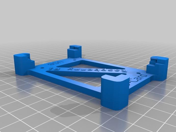 树莓派电路板保护框 3D打印模型渲染图