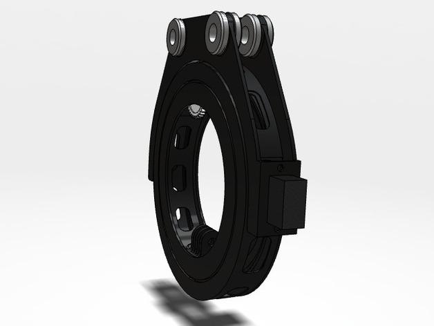 GoPro 相机万向接头 3D打印模型渲染图