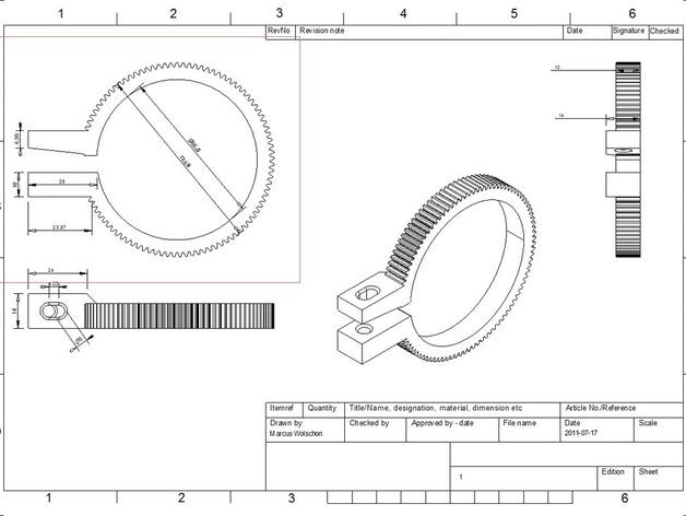 齿轮跟焦器
